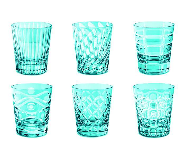 Livellara Tumbler 300 Ml Set 6 Bicchieri In Cristallo Luxury Fatti A Mano SKY