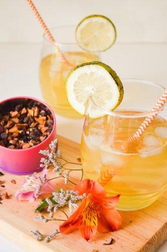 Mint & mango iced tea
