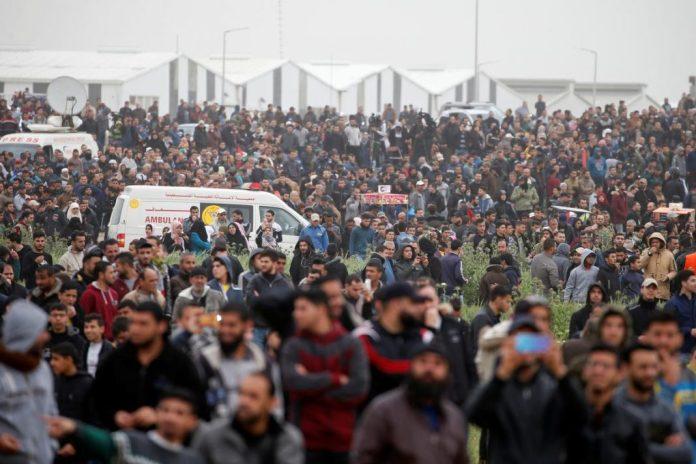 [NEWS] Palestinians mass at Gaza border to mark protest anniversary – Loganspace AI