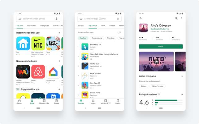 [NEWS] Google updates to a cleaner, simpler Play Store design with no Music section – Loganspace