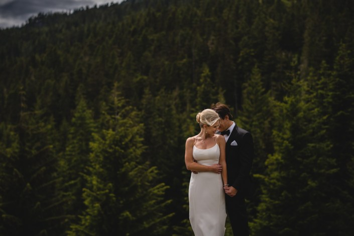 whistler wedding bride groom