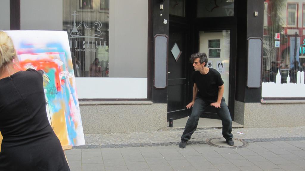 Marco Jodes und Stefanie Manhillen in Aktion. (c) S. Mosler