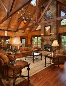 Luxurious Log Cabin Interiors