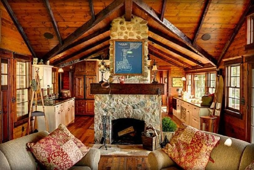 log home living room decorating ideas images of rooms with leather furniture 22 luxurious cabin interiors you have to see hub cozy