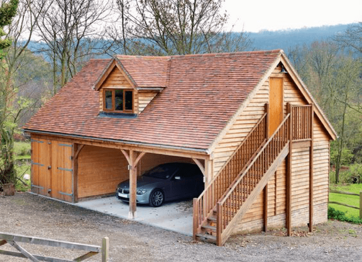 8 Log Cabin Garages Made From Logs And Timber Log Cabin Hub