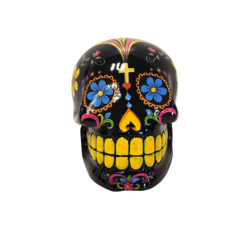 Tirelire tte de mort en cramique et peinte sur Logeekdesign