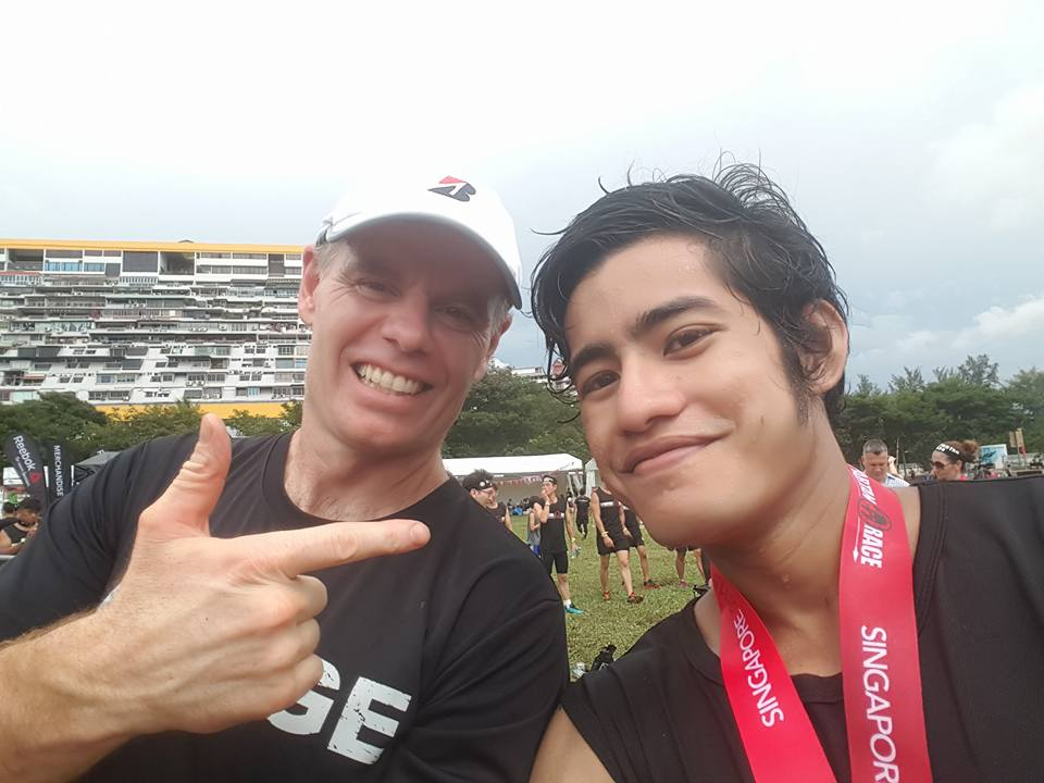 Logen Lanka With Joe DeSena (founder Of Spartan Race) At Spartan Race Singapore