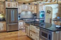 Log kitchen | Cabin | Pinterest