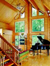 The Downsides of a Log Home Vaulted Ceiling