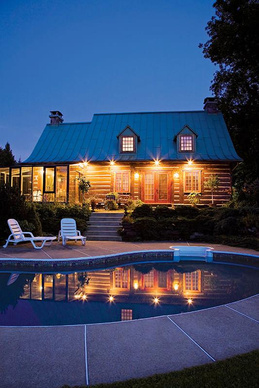 log home exterior lighting