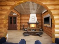 Fireplace Ideas for New Log Cabin Home