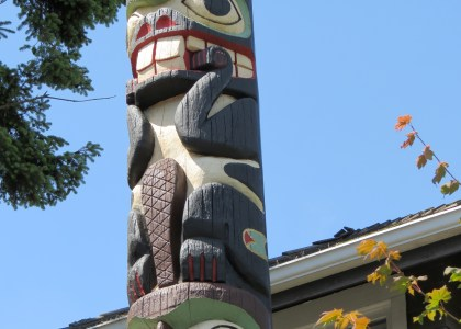 Thumbnail for the post titled: VIDEOS: Visit restored Admiral totem pole at our museum!
