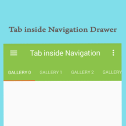Tab View Inside Navigation Drawer for android