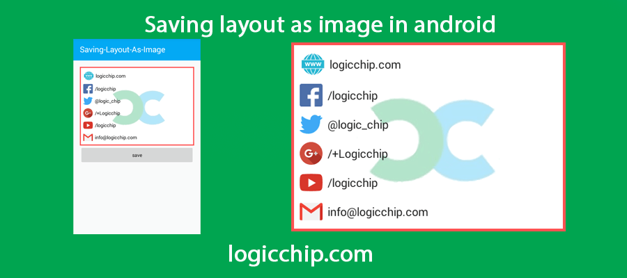 Creating Image From Current View in Android - Logicchip