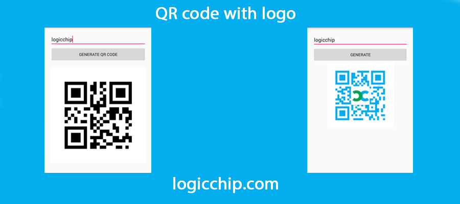 Create QR Code with Logo in android - Logicchip