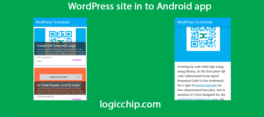 Turing Your WordPress site into an android App - Logicchip