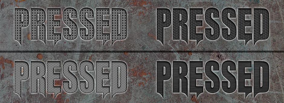 metal texture styles pressed