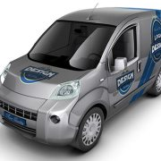 Minivan Car Mock-Up