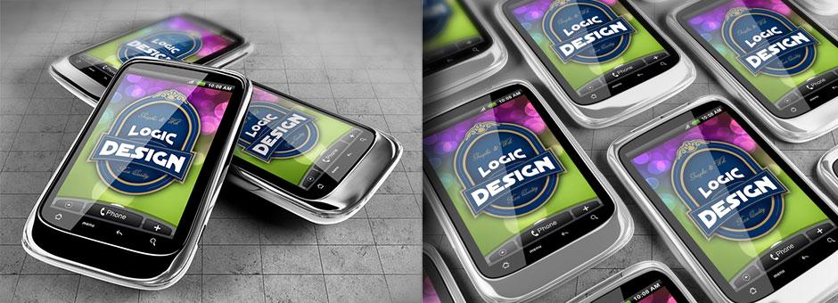 smart phones mock up htc details