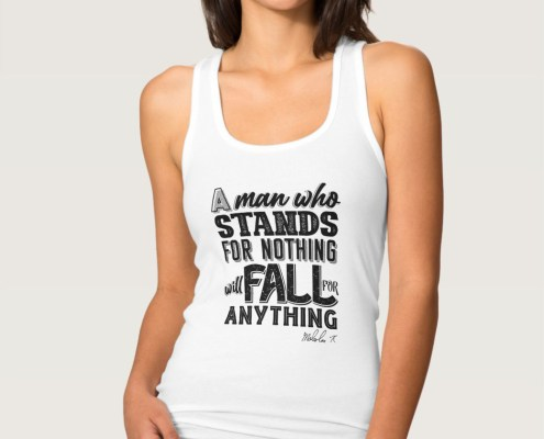 Malcom X Quote Stand and Fall - tank top