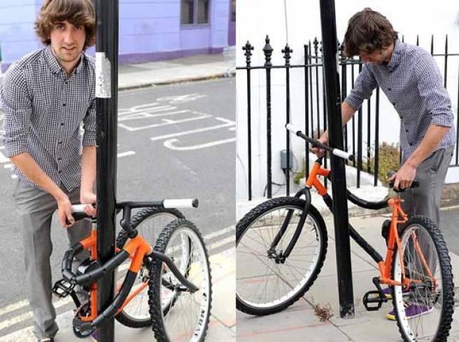 Self-locking bendy bicycle