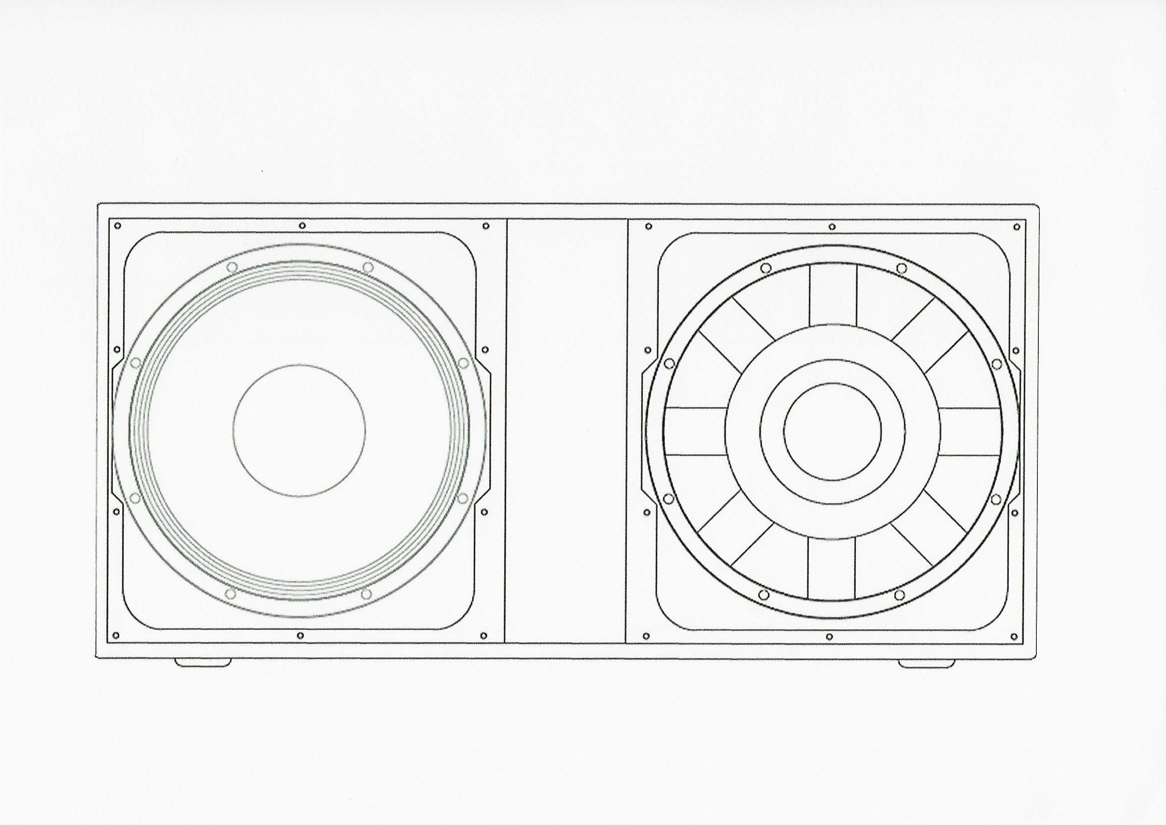 Logic Systems V212 (Push Pull) V Line Bass Loudspeaker