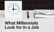 What Millennials Look for in A Job