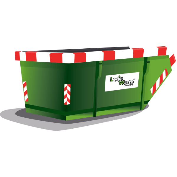 LogicWaste ® 10m3 open afzetcontainer