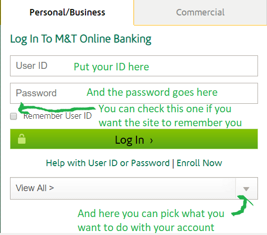 M T Online Banking Log On And Sign In Bank