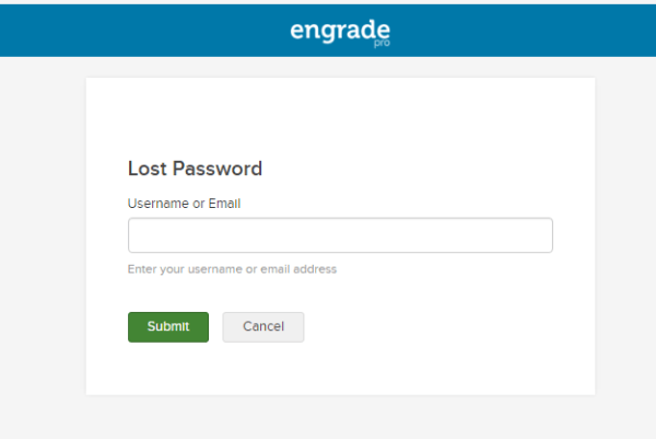 Engrade WV Lost Password