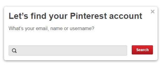 Pinterest Forgot Password