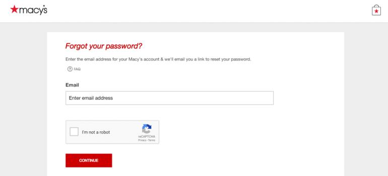 Macy's Forget Password | logintips.net