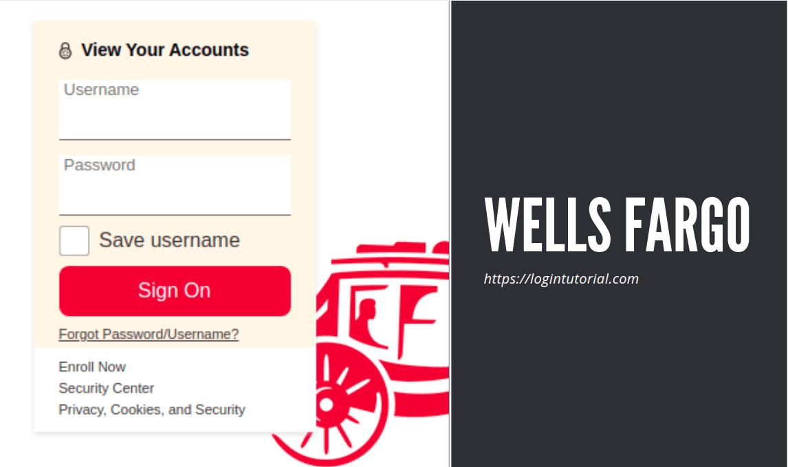 Wells Fargo Login Process