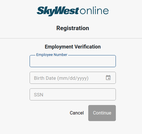 skywest registration form