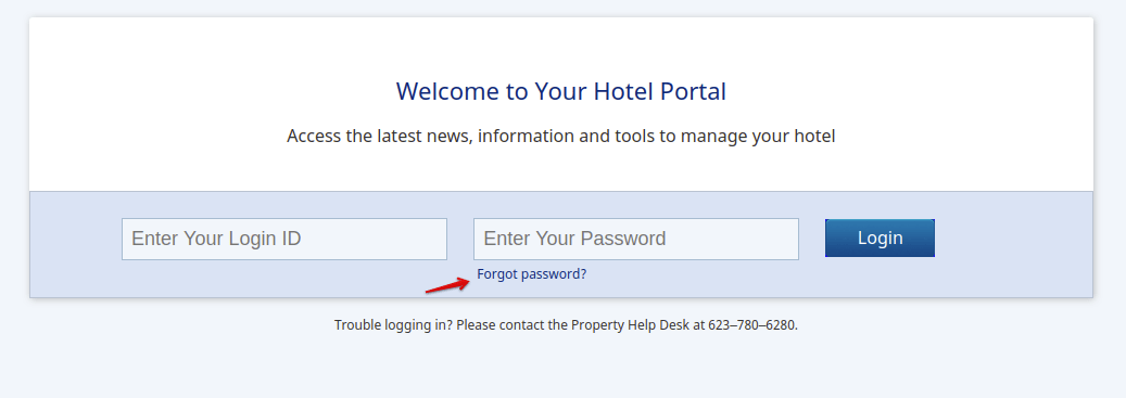 MyBestWestern Portal Reset