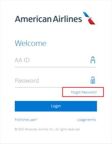 Forget Password AA Jetnet