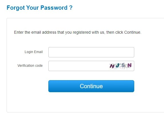 charmdate forget password reset