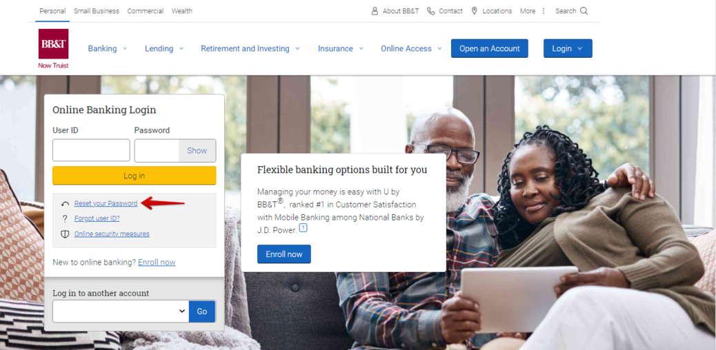 BB&T Online Banking Forgot Password