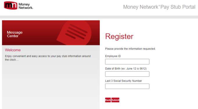 Dgme Employee Paystub Portal Registration Details