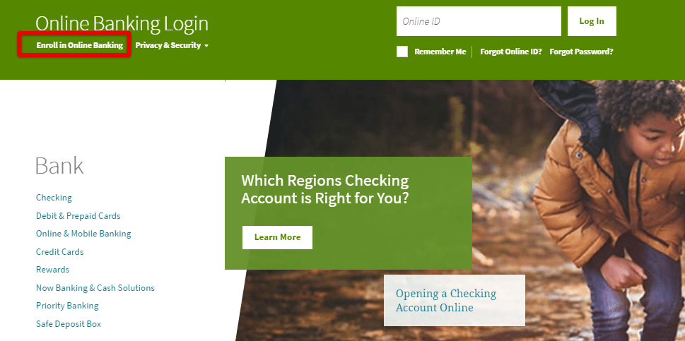 Regions Bank Online Banking Enrollment For Personal Account