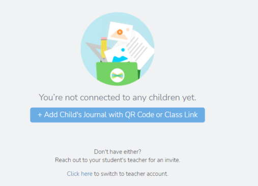 Seesaw Parent homepage
