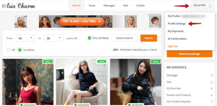 Asia Charm Change Email Id