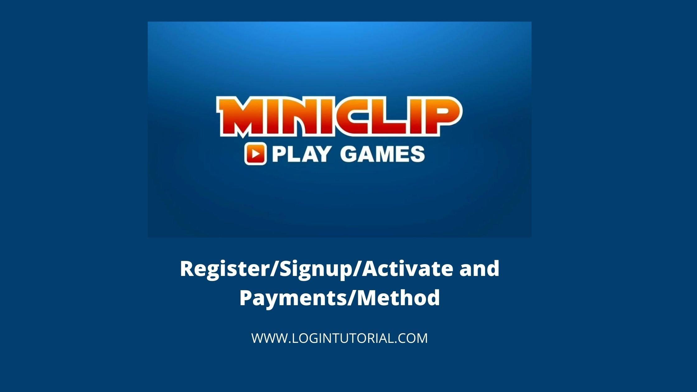 miniclip login Guide
