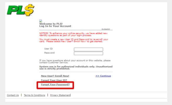 PLS Xpectations! Forgot Password