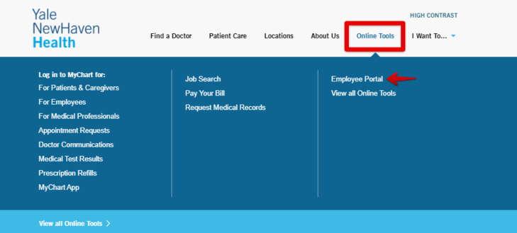 Yale New Haven Health employee Login