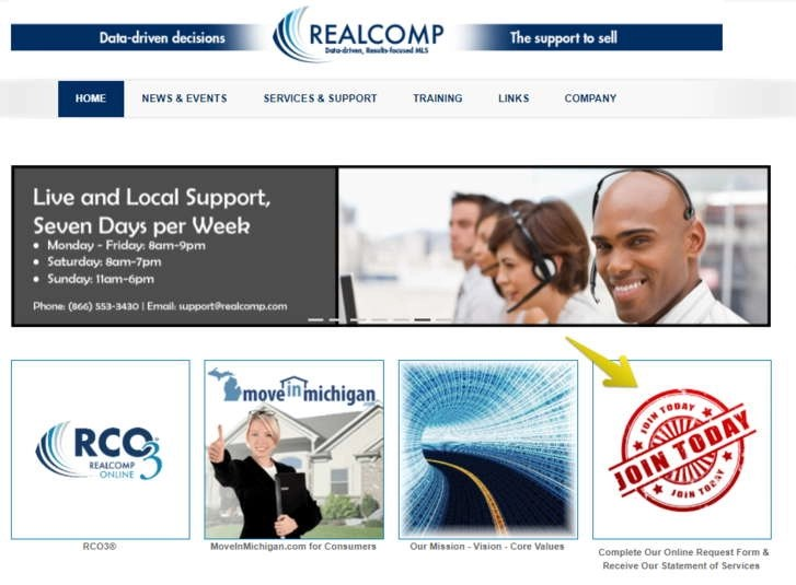 Realcomp Sign up