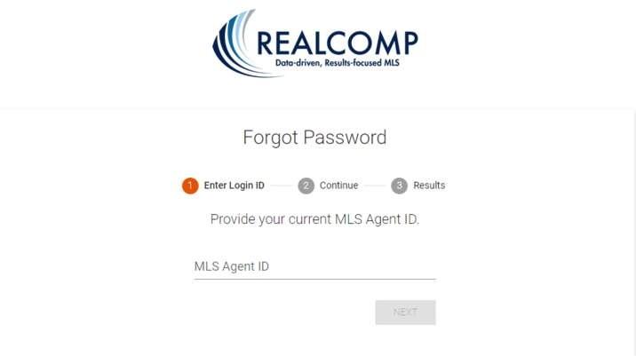 Realcomp forgot password