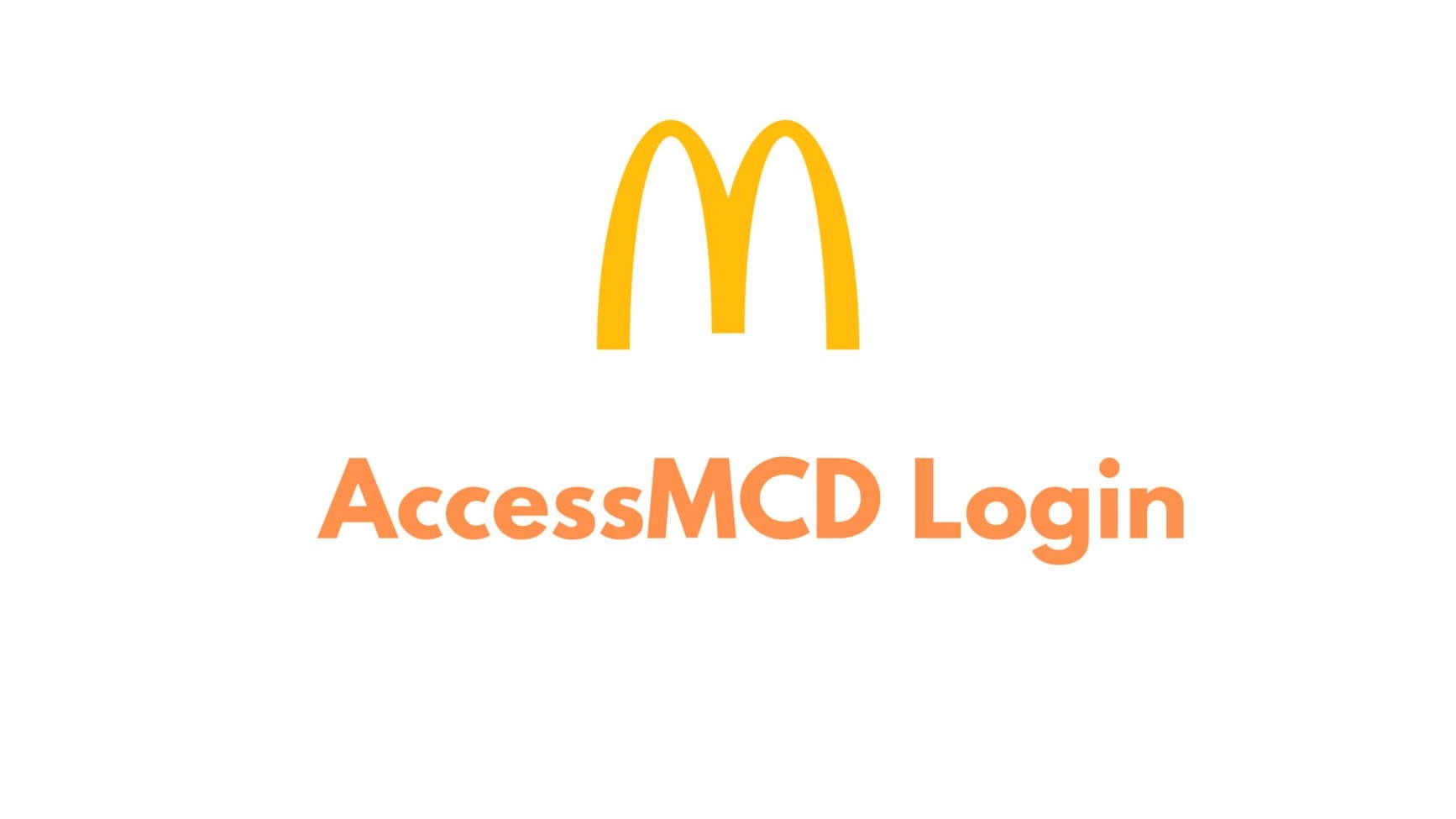 AccessMCD online login