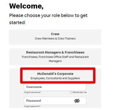Employee MCD login