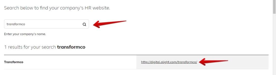 TransformCo HR website